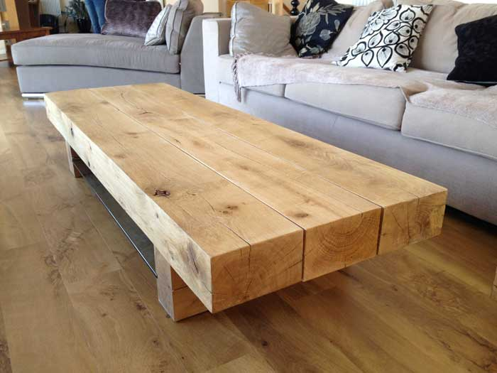 The coffee table installed in its new home