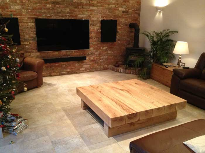 A Huge 6 Beam Bepsoke Arabica table in an Oak Beam Converted Room