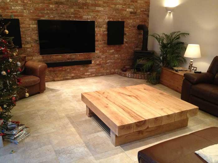 Huge 6 Beam Bepsoke Arabica table in an Oak Beam Converted Room