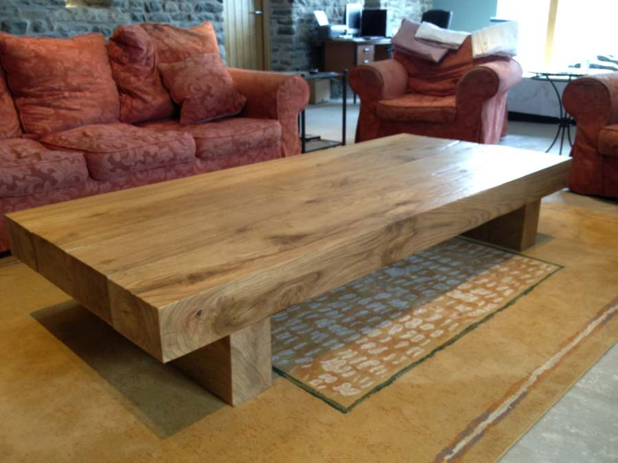Large Oak Coffee Table Of The Finest Quality