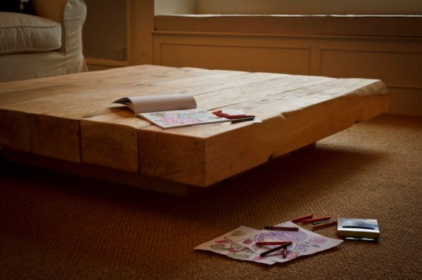 Square coffee table for Large low coffee table