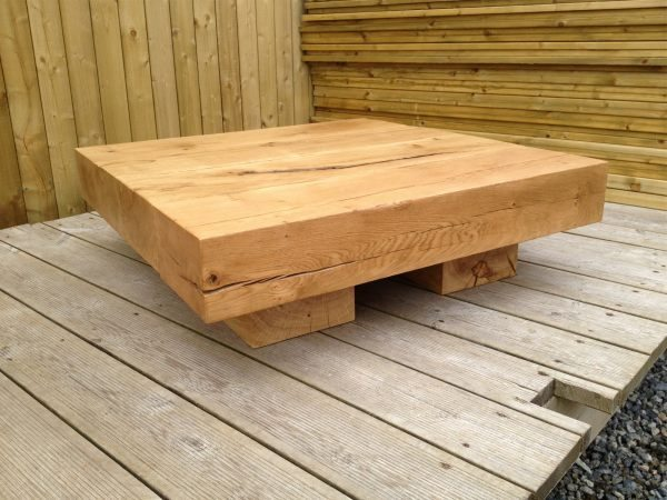 Square Amazonica 4 Beam 880mm x 260mm Low Coffee Table