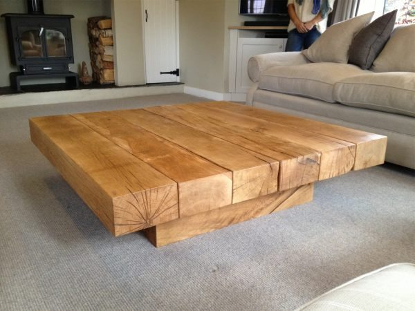 square oak coffee table 1. Black Bedroom Furniture Sets. Home Design Ideas