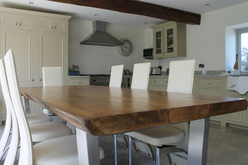 large oak dining table 2