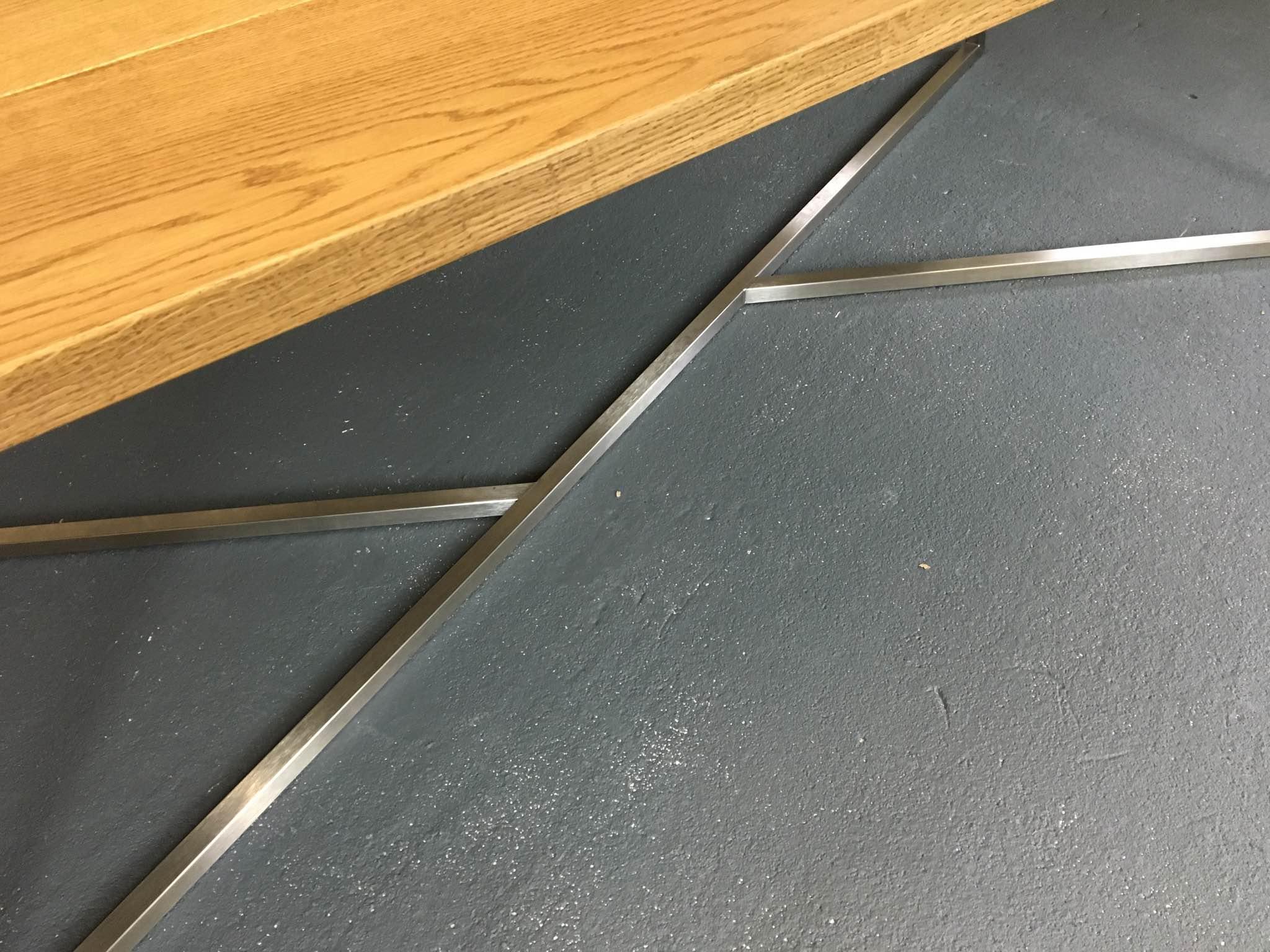 Hand-welded frame detail