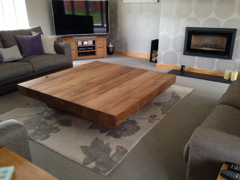 Large Square Coffee Table Tarzantables Co Uk