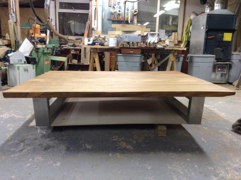 Chunky Brushed Stainless Legs or Choose an Oak Base