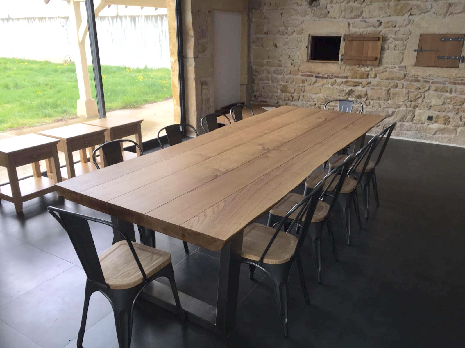Large oak dining table for Big dining table