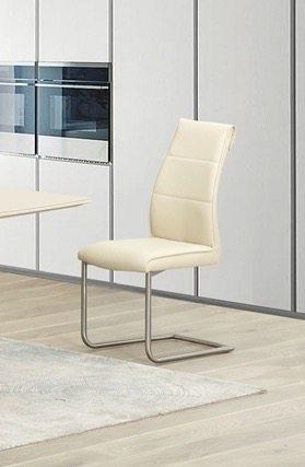 Metal Dining Chairs Zayno Cream Front Tarzantables Co Uk