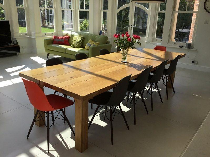 Farmhouse Dining Table - 3m x 1.1m (52mm oak top)