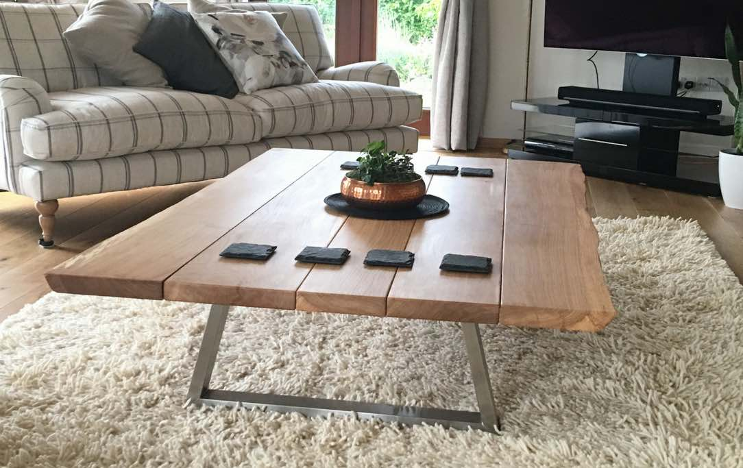 The Piranha Coffee Table with Live-Edge