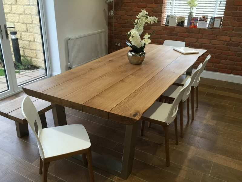 The Komodo Dining Table - 2.4m x 1.1m with 65mm oak top