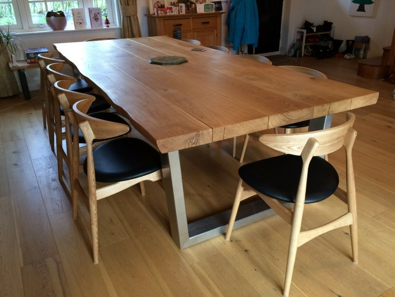 Komodo Dining Table 3m x 1.3m (65mm oak top)