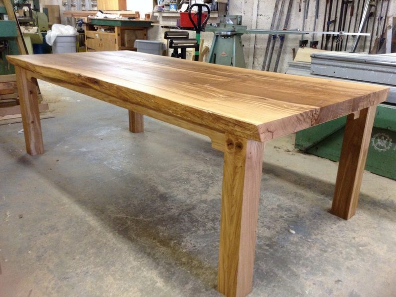 Farmhouse Dining Table with Live-Edges