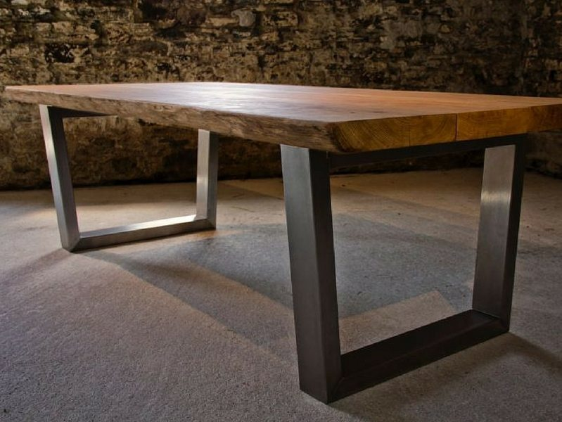 Komodo Dining Table - 2.4m x 1.1m with 65mm oak top