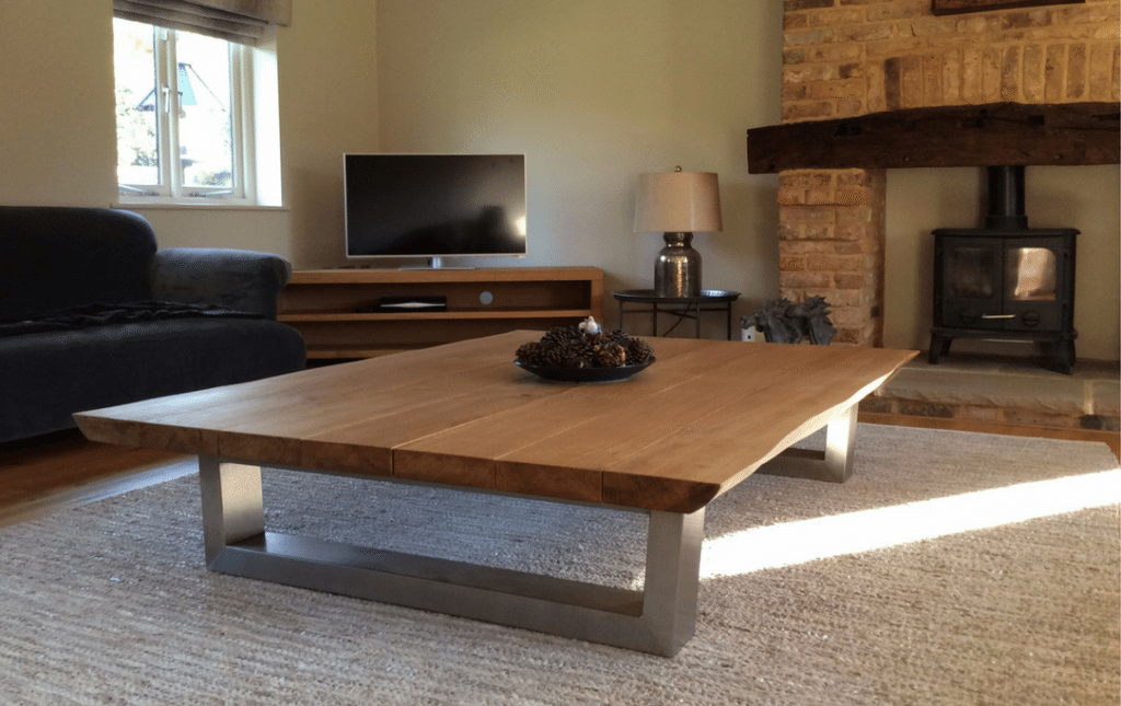 rustic live edge coffee table from tarzan tables - the komodo coffee table